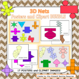 3D Nets Posters and Clipart Images for Commercial Use