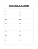 3D Object Measurement Chart