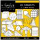 3D Objects Clipart {A Hughes Design}
