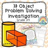 3D Objects / Shapes Investigation - Scavenger Hunt - Grades 2 / 3