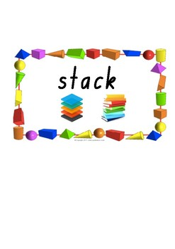 3D Objects Word Wall