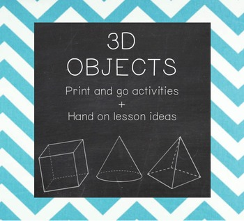 3D Shapes print and go activities
