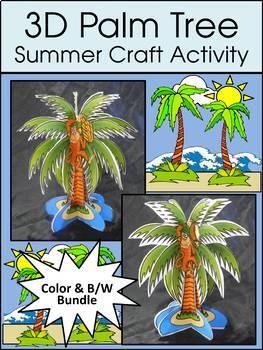 3D Palm Tree Summer Craft Activity
