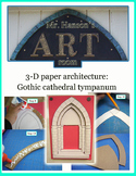 3D Paper Architecture:  Gothic Archway