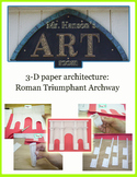 3D Paper Architecture: Roman Archway
