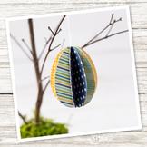 3D Paper Egg Ornament (Easter/Spring)