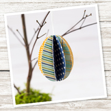 3D Paper Egg Ornament (Easter/Spring)
