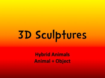 3D Paper Mache Sculptures (Animal + Objects)