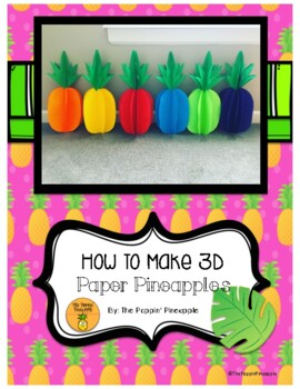 3D Tropical Paper Pineapples
