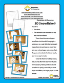 3D Paper Snowflake with two sizes includes Template & Directions Elementary Art
