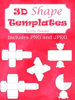 3D Paper Templates ~ Worksheets and Images