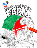 3D Papercraft Farm-Black and White