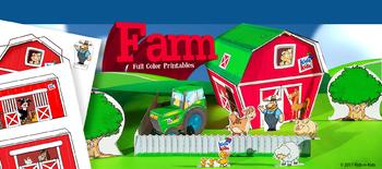 3D Papercraft Farm-Color
