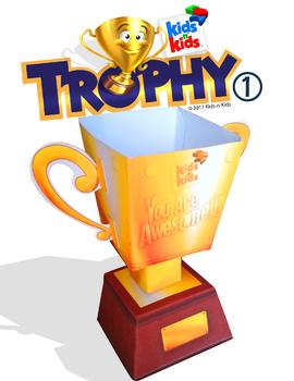 3D Papercraft Trophy Cup