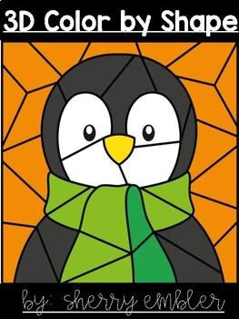 3D Penguin Color by Shape