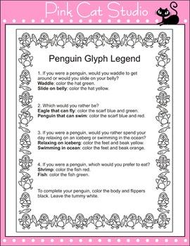 Penguins Glyph - Winter Activities