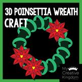 3D Poinsettia Christmas Wreath Craft