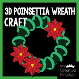 3D Poinsettia Christmas Wreath Craft