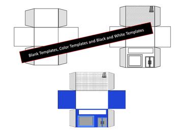 3D Pop-Up Building Templates