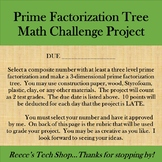 3D Prime Factor Tree w/ Rubric
