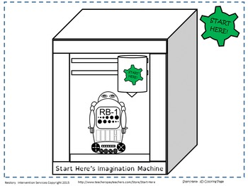 3D Printer Coloring Page