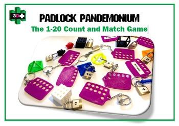 3D Printer Design Files - Padlock Pandemonium - The 1-20 Count and Match Game