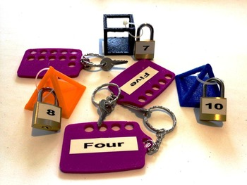 3D Printer Design Files - Padlock Pandemonium - The 1-20 Count and Match Game