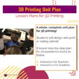 3D Printing Unit Plan