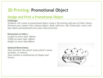 3D Printing Projects - 4 Ready to use task cards.