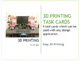 3D Printing task cards (4) for Makerspace