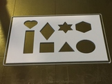 3D Printing Shape Stencil
