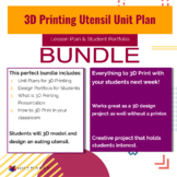"3D Printing Unit Plan & Student Portfolio Bundle ""Designin"