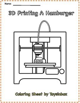 3D Printing a Hamburger Coloring Sheet - Toysinbox 3D Printing