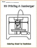 3D Printing a Hamburger - Toysinbox 3D Printing (Coloring Sheet)