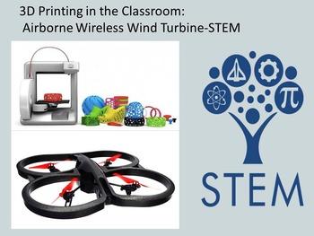 3D Design + Printing - STEM: Design Airborne Wireless Wind Turbine. Energy Use