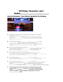 3D Printing--the Process--part 1--Handout, Worksheet and Key