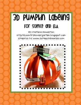 3D Pumpkin Labeling for Fall Or Halloween Science and ELA