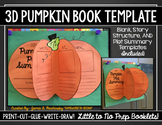 3D Pumpkin Book Template for Retelling, Summaries, Story S