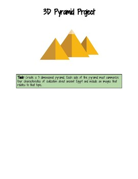 3D Pyramid Project: Ancient Egypt