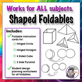 Middle School Foldables: Assorted Shapes Series Graphic Organizer