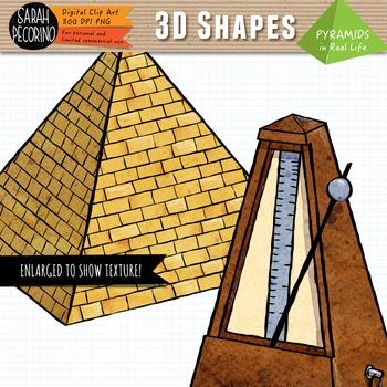 3D Pyramids in Real Life Clip Art