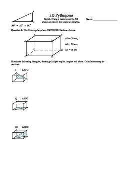 3D Pythagoras problems