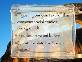 3d roman colosseum powerpoint template by science girl tpt