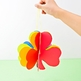 3D Rainbow Paper Shamrock