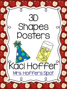 3D Real Shapes Poster {Apples}