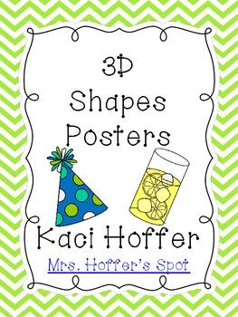 3D Real Shapes Poster {Chevron Print}