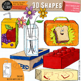 3D Rectangular Prisms in Real Life Clip Art