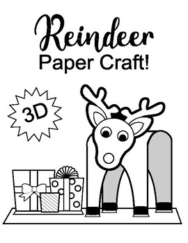 3D Reindeer craft EASY FUN SIMPLE