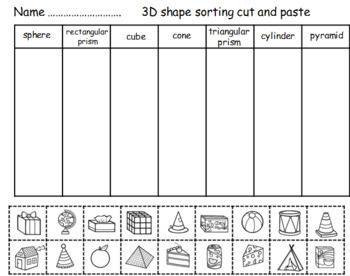 3D SHAPE CUT AND PASTE