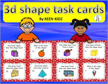3D SHAPE TASK CARDS